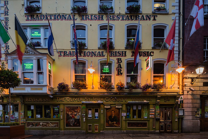 The Oliver St. John Gogarty Pub at Dawn