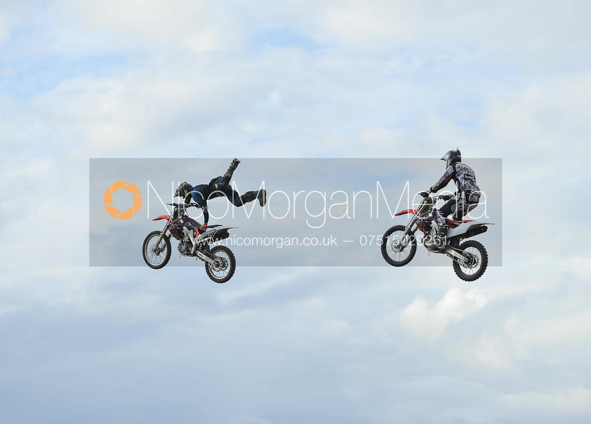 Stock images - Motorcycle display team