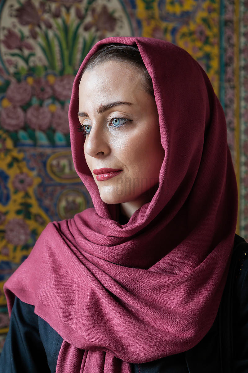 Portrait of an Iranian Woman in the Prayer Hall