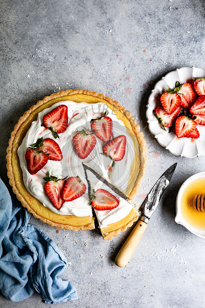 Lemon Strawberry Tart