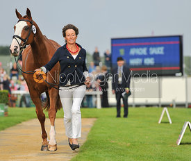 Mary King and Apache Sauce - 2nd Inspection - Burghley 2010