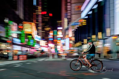 The Cyclist of Time Square