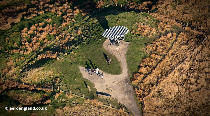 Singing Ringing Tree Panopticon aerial photograph