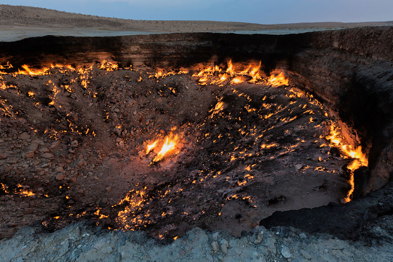 Door to Hell at Dawn