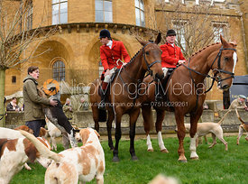 Otis Ferry, John Holliday at the meet - The South Shropshire and Belvoir Hunts at Belvoir Castle 11/3/17