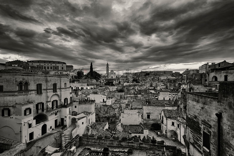 Elevated View of Matera from the Belvedere Luigi Guerricchio