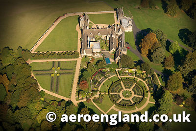 aerial photograph of Rockingham Castle Northamptonshire. England UK