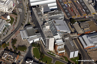 aerial photograph of  Sheffield Hallam University