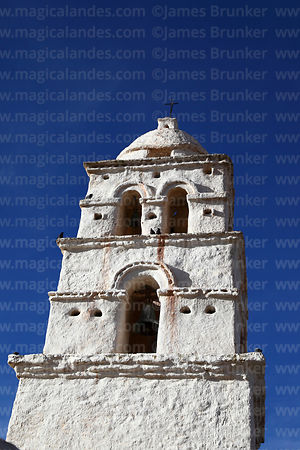 "Belfry of the so called ""Sistine Chapel of the Andes"" / Capilla Sixtina de los Andes, Curahuara de Carangas, Oruro Department, Bolivia"