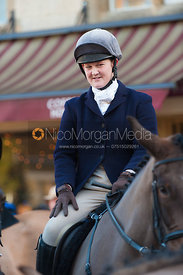 Rebecca Vernon - The Cottesmore Hunt in Uppingham on New Year's Day 2013