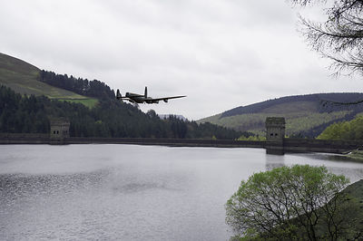Dambusters Lancaster at the Derwent Dam