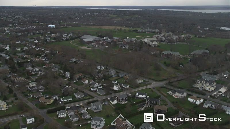 Orbiting St George's School in East Newport, Rhode Island. Shot in November