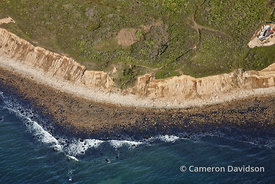 Montauk Cliffs Aerial Photograph