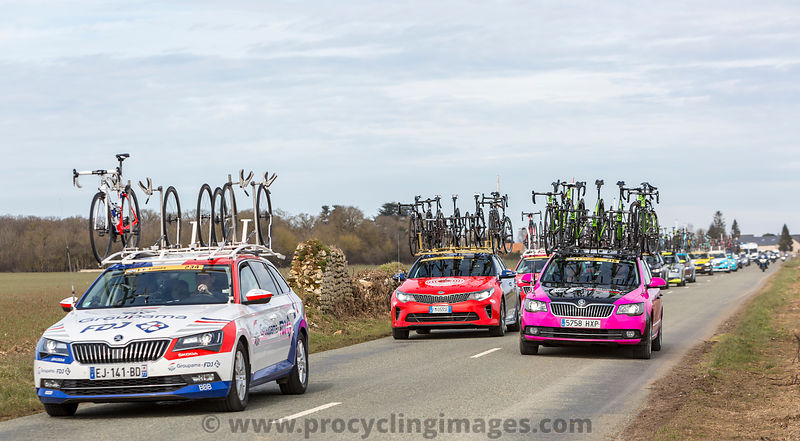 Convoy of Technical Cars - Paris-Nice 2018