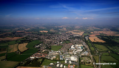 aerial photograph of Leominster Herefordshire England UK