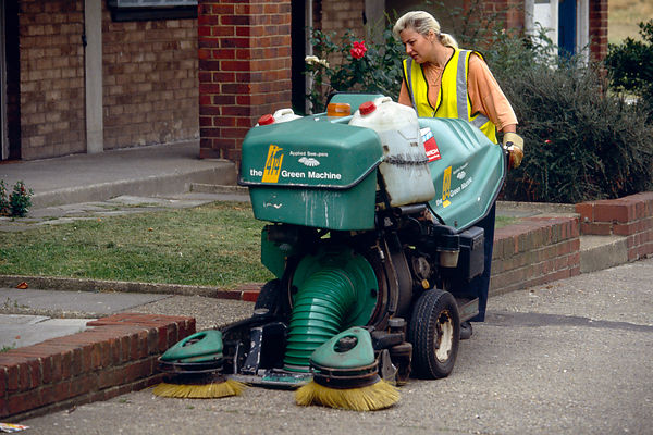 Woman Street Cleaner
