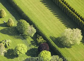 Aerial photograph of Hedges of a Mansion along the Atlantic Ocean