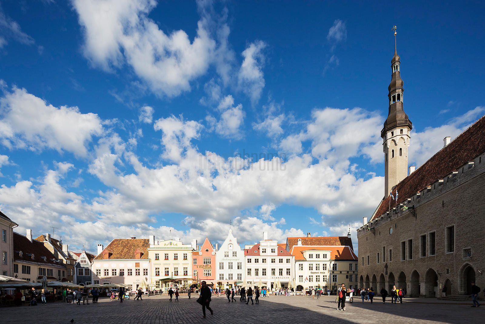 Tallinn City Hall and Raekoja Plats or Market Square