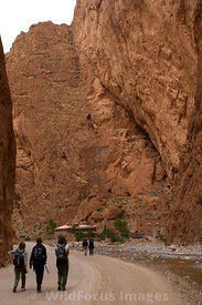Tourists in Todra Gorge,  High Atlas, Morocco, Portrait