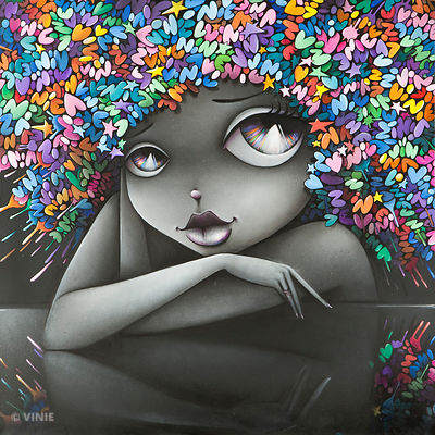 """des couleurs plein la tete - 100x100cm - sold - available in print"