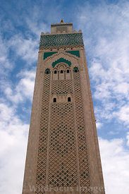The minaret of the Hassan II Mosque, Casablanca, Morocco; Portrait