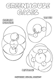 Colouring-In Page: Greenhouse Gases