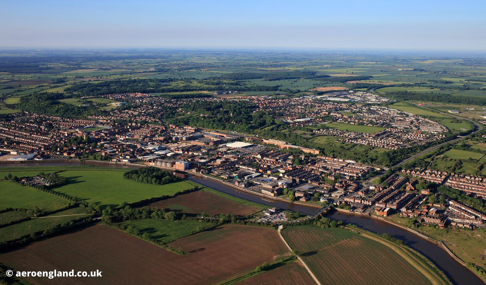 Gainsborough Lincolnshire   aerial photograph