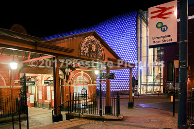 Birmingham Moor Street Railway Station at Night
