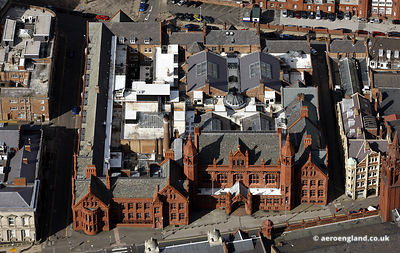 aerial photograph of the Victoria Law Courts Birmingham, West Midlands England UK