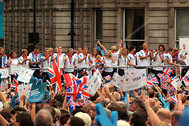 Team GB and Paralympics GB Athletes on an Open Top Bus