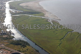 River Mersey and the Manchester Ship Canal aerial photograph view of the canal and mud flats Stanlow Point River Ellesmere Port River Mersey
