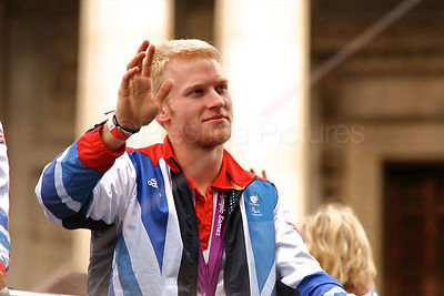 Paralympic Gold Medallist During the Athletes Victory Parade in London