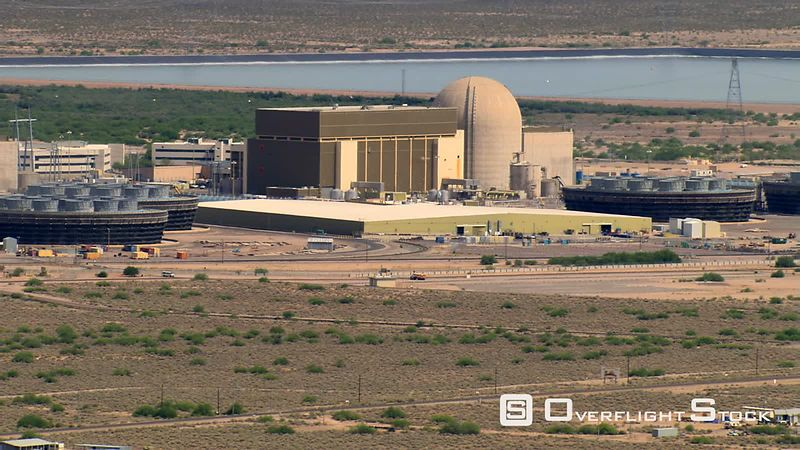 Aerial zoom-out of Palo Verde Nuclear Power Plant