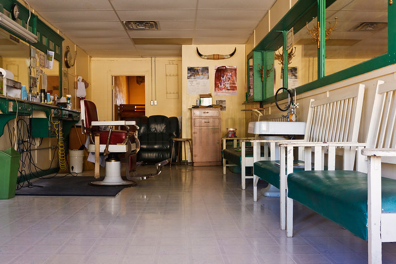 Barber Shop Interior.
