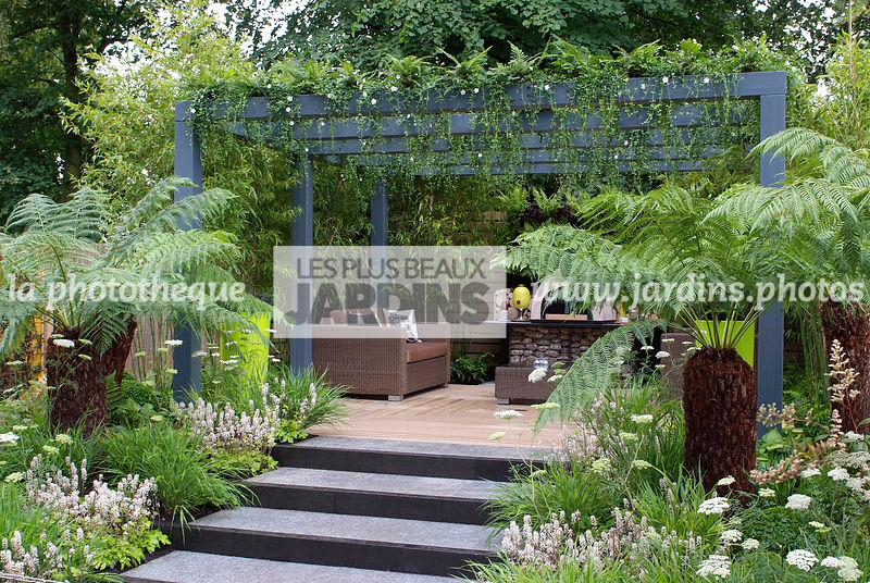 La phototh que les plus beaux jardins jardin tropical - Jardin paysager contemporain design ...