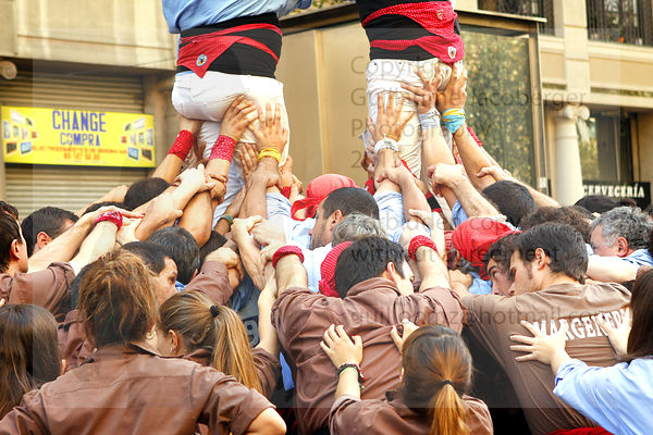 Human Pyramid Castel Art Photographs