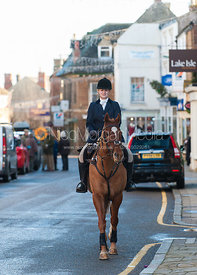 Cassey Watson - The Cottesmore Hunt in Uppingham on New Year's Day 2013