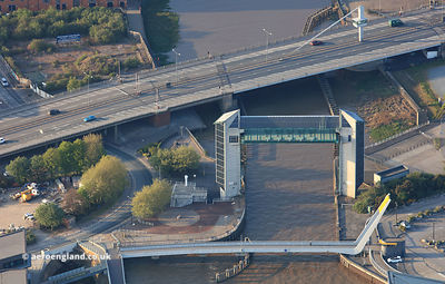 Myton Bridge, the Hull Tidal Surge Barrier and Millenium Bridge