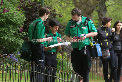 St John's Ambulance workers in St James's Park