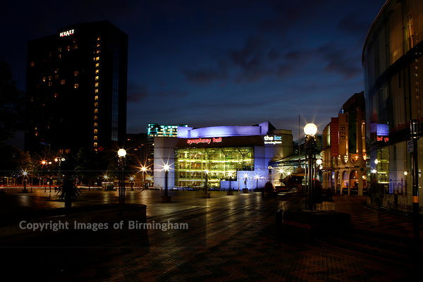 Symphony Hall and ICC (International Convention Centre) in Centenary Square. Birmingham, UK.