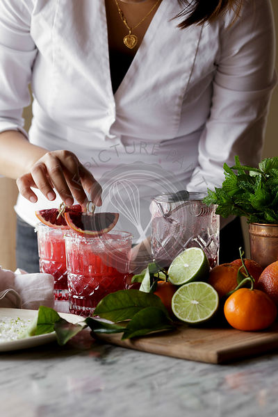 Making a Blood Orange Margarita