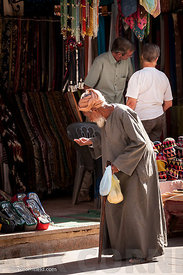 Old man in street Aswan.