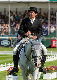 Richard Jones and HIGHLAND FORD - dressage phase,  Land Rover Burghley Horse Trials, 5th September 2013.