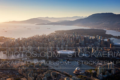 Downtown Vancouver Skyline at Sunset
