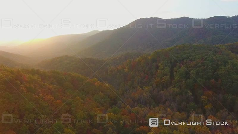 4k Aerial Autumn Colors in the Mountains