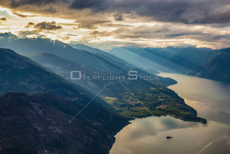 Sun Rays and Harrison Lake BC