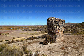 Fieldstone chulpa at Kala Uta, near Lake Titicaca, Bolivia