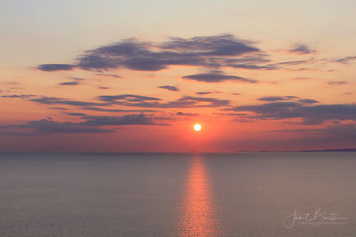 Sunset from Upper Borth over Cardigan Bay & Lleyn Peninsula