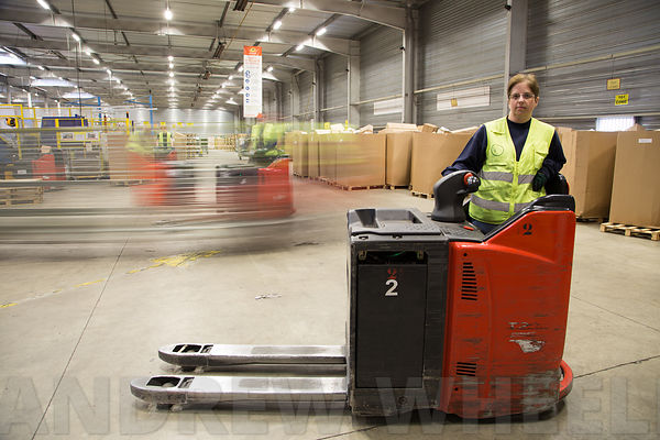 Portraits of employees at La Poste's parcel sorting centre in Val de Reuil photos