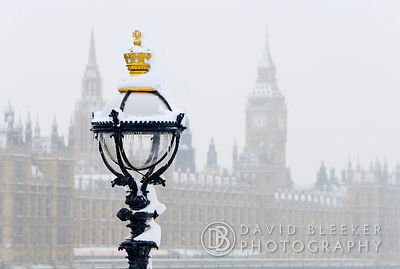 London lamppost and Parliament